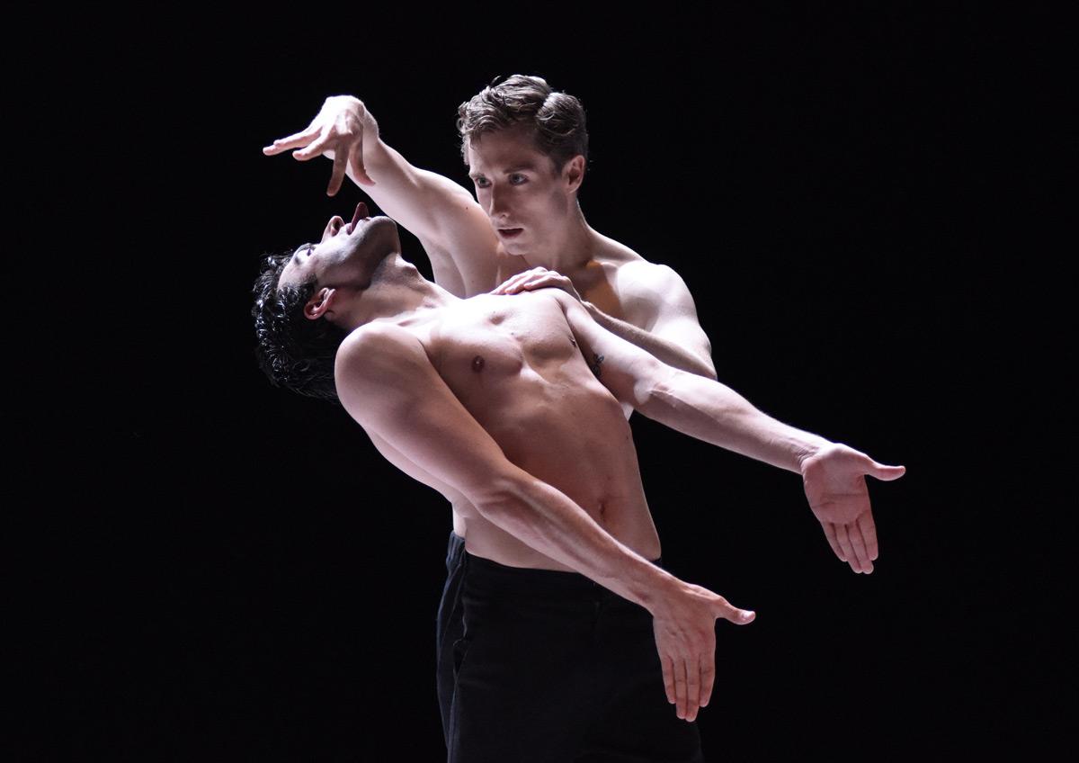 Luke Prunty (right), here with Rosario Guerra as Nijinsky, in NIJINSKI.© Regina Brocke. (Click image for larger version)