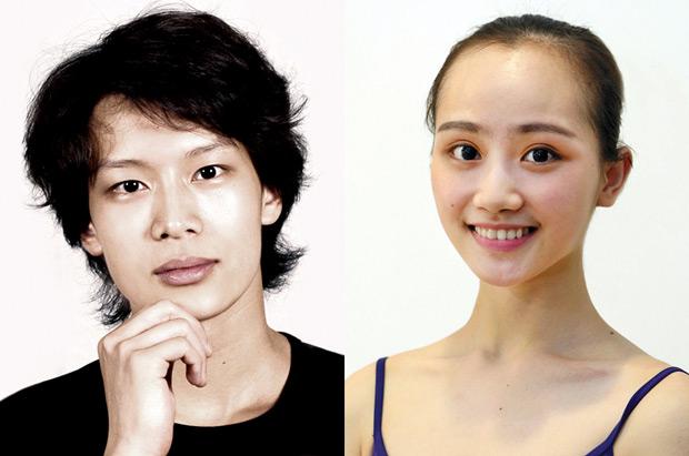 Wu Husheng and Qi Bingxue.<br />© Shanghai Ballet. (Click image for larger version)