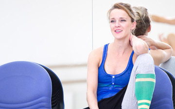 Sophie Laplane in the studio with Constance Devernay and Claire Souet rehearsing Sibilo.© Andy Ross. (Click image for larger version)