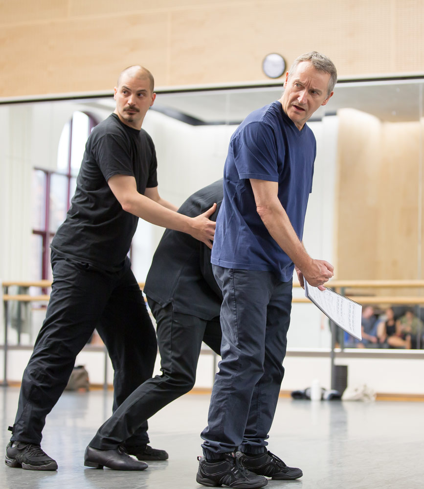 David Bintley in the studio rehearsing The Tempest.© Andy Ross. (Click image for larger version)