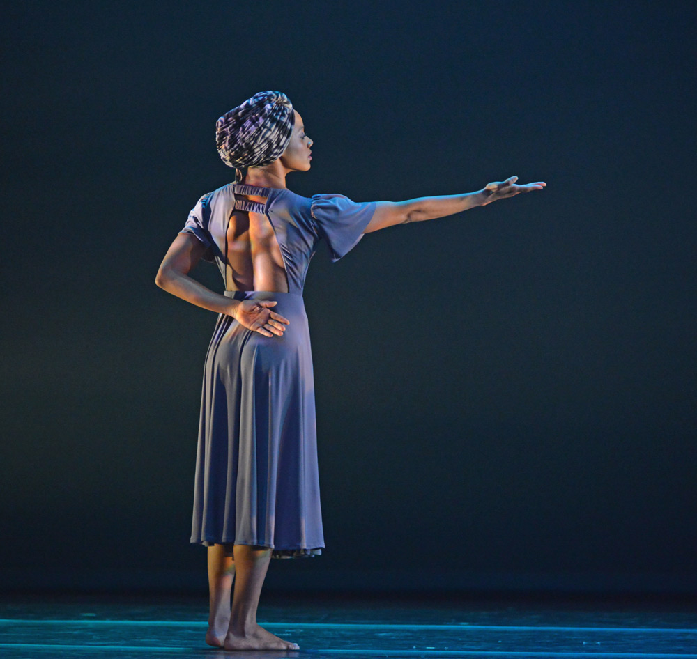 Jacquelin Harris in Ronald K. Brown's Four Corners.© Dave Morgan. (Click image for larger version)