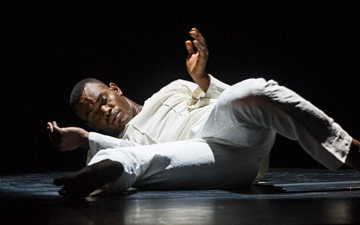 Jamar Roberts in Robert Battle's Awakening.© Foteini Christofilopoulou. (Click image for larger version)