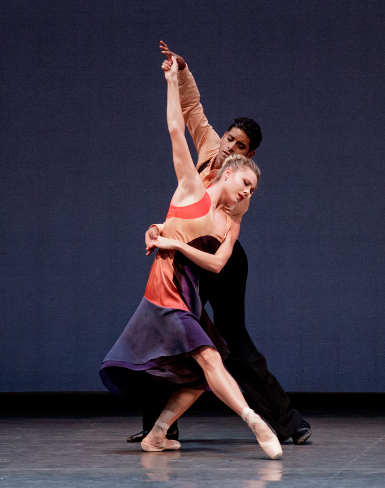 Sara Mearns and Amar Ramasar in Justin Peck's The Dreamers.© Paul Kolnik. (Click image for larger version)
