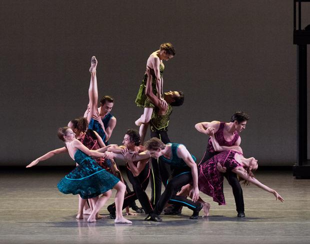 New York City Ballet in Peter Walker's <I>Ten in Seven</I>.<br />© Paul Kolnik. (Click image for larger version)
