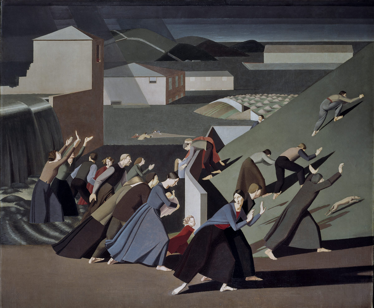 Winifred Knights, <I>The Deluge</I>, 1920, Oil on canvas, 152.29 x 183.5 cm, Tate: Purchased with assistance from the Friends of the Tate Gallery 1989.<br />© Tate, London 2016. © The Estate of Winifred Knight