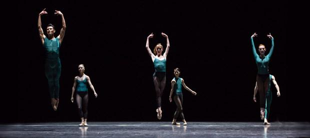 Houston Ballet in Forsythe's <I>Artifact Suite</I>.<br />© Amitava Sarkar. (Click image for larger version)