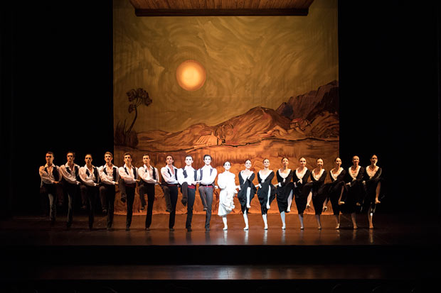Ballet Nice Mediterranee in Roland Petit's <I>L'Arlésienne</I>.<br />© Dominique Jaussein. (Click image for larger version)