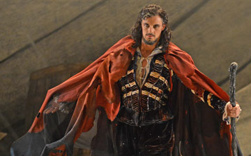Iain Mackay (Prospero) in David Bintley's The Tempest.© Dave Morgan. (Click image for larger version)