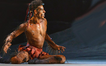 Tyrone Singleton (Caliban) in David Bintley's The Tempest.© Dave Morgan. (Click image for larger version)