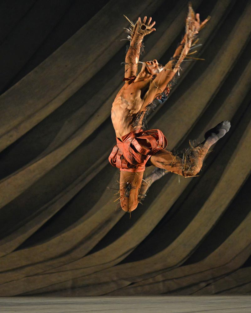 Tyrone Singleton (Caliban) in David Bintley's <I>The Tempest</I>.<br />© Dave Morgan. (Click image for larger version)