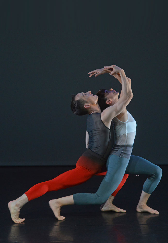 Kieran Stonely and Amy Thake in Yolande Yorke-Edgell's <I>Untethered</I>.<br />© Dave Morgan. (Click image for larger version)