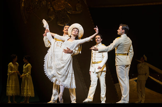 Natalia Osipova, Ryoichi Hirano, Valeri Hristov and Alexander Campbell in <I>Anastasia</I>.<br />© Foteini Christofilopoulou, courtesy the Royal Opera House. (Click image for larger version)