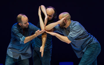 Johnny M. Lloyd, Sidi Larbi Cherkaoui and Patrick Williams Seebacher in Fractus V.© Foteini Christofilopoulou. (Click image for larger version)