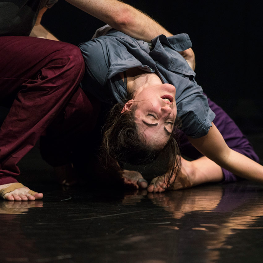 Stephen Moynihan and Sophie Arstall in Hagit Yakira's Free Falling.© Foteini Christofilopoulou. (Click image for larger version)