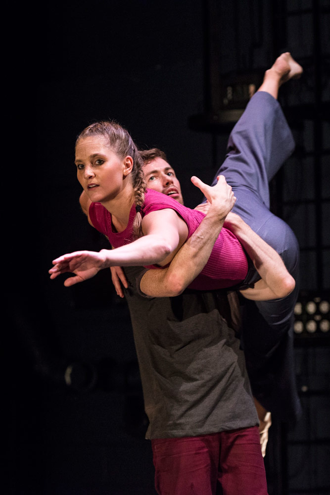 Verena Schneider and Stephen Moynihan in Hagit Yakira's <I>Free Falling</I>.<br />© Foteini Christofilopoulou. (Click image for larger version)