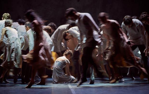 Alina Cojocaru in Akram Khan's <I>Giselle</I>.<br />© Laurent Liotardo. (Click image for larger version)