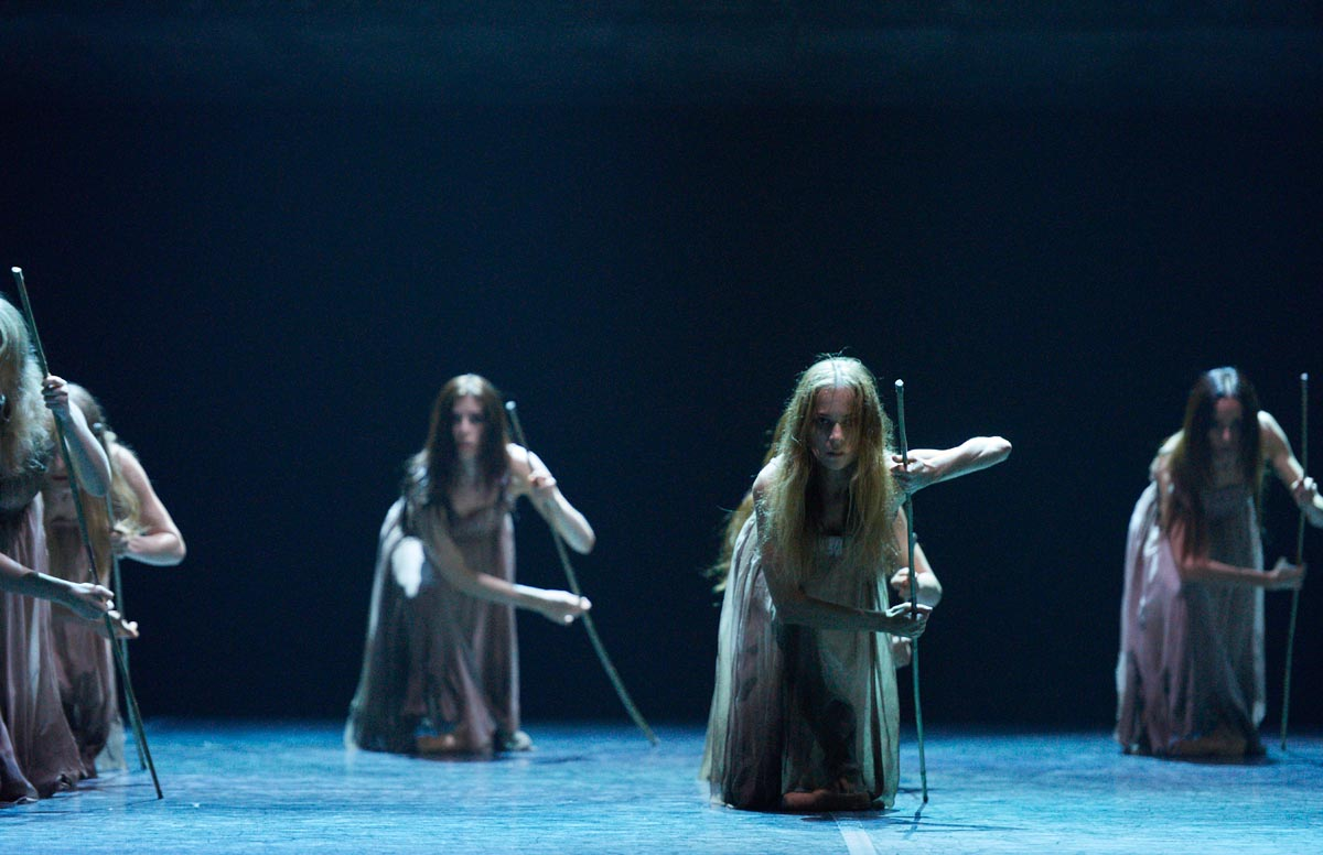 English National Ballet in Akram Khan's Giselle.© Laurent Liotardo. (Click image for larger version)