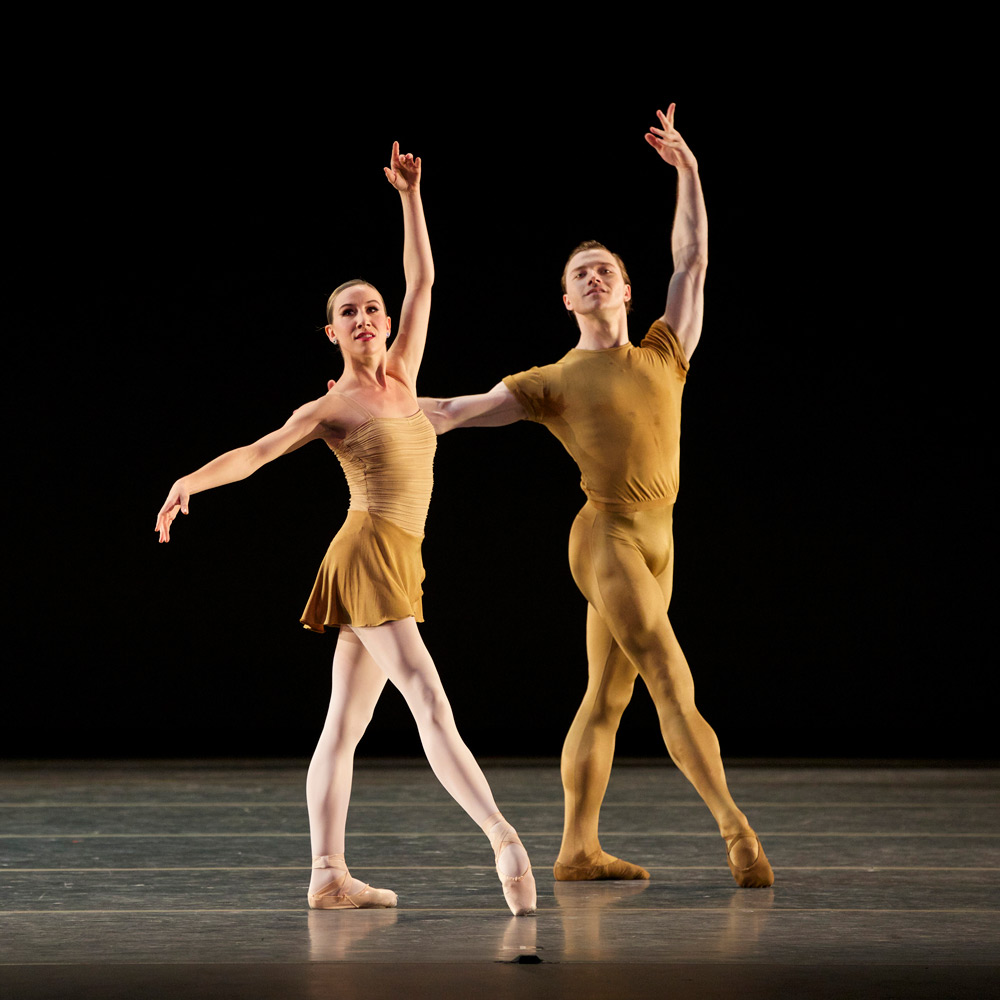 Isabella Boylston and Alban Lendorf in <I>The Brahms-Haydn Variations</I>.<br />© Marty Sohl. (Click image for larger version)
