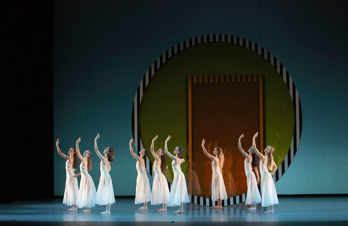 American Ballet Theatre in Benjamin Millepied's <I>Daphnis and Chloe</I>.<br />© Marty Sohl. (Click image for larger version)