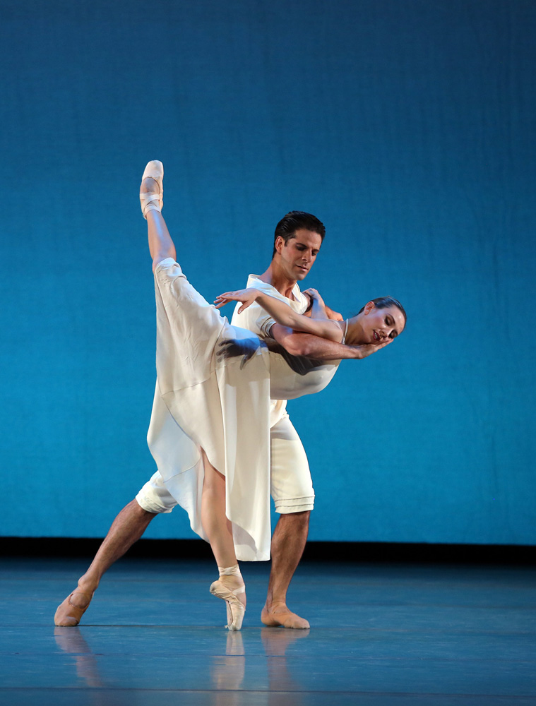 Isabella Boylston and Marcelo Gomes in Benjamin Millepied's Daphnis and Chloe.© Marty Sohl. (Click image for larger version