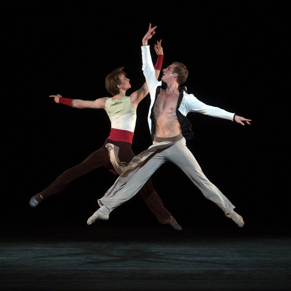 Daniil Simkin and Blaine Hoven in Alexei Ratmansky's <I>Serenade after Plato's Symposium</I>.<br />© Marty Sohl. (Click image for larger version)