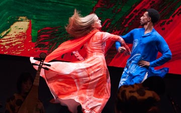 Lesley Garrison and Durell R. Comedy in Layla and Majnun.© Susana Millman. (Click image for larger version)