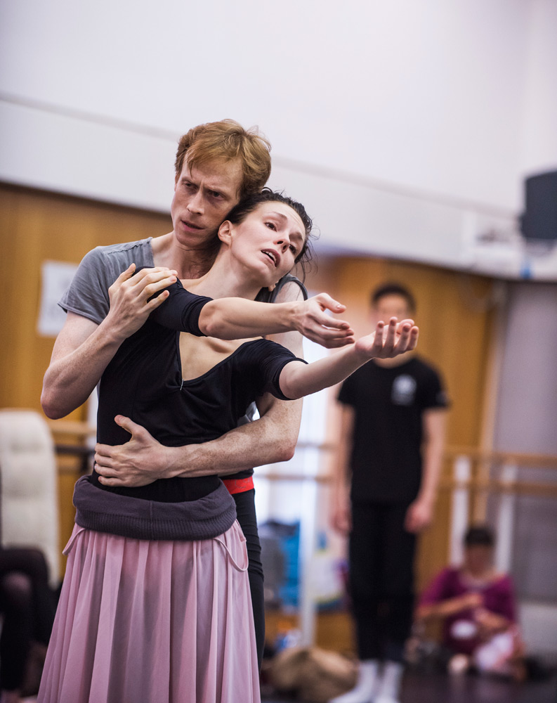 Natalia Osipova and Edward Watson in the studio rehearsing Anastasia.© ROH, 2016. Photographed by Tristram Kenton. (Click image for larger version)