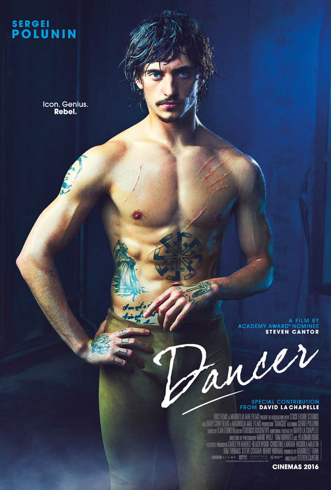 Poster for the film <I>Dancer</I> staring Sergei Polunin.<br />© West End Films. (Click image for larger version)