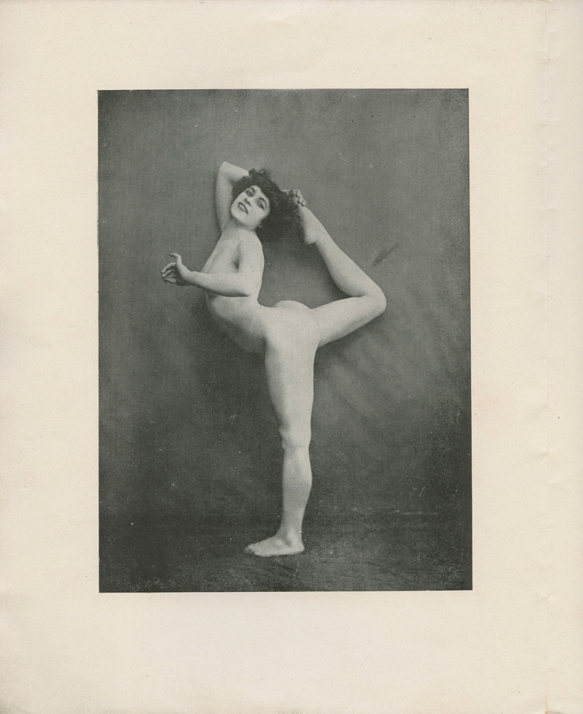 Le nu académique Journal of 1905 showing the newly discovered photos of Alda Moreno in the pose of 'Dance Movement A'. (30 June) 1905.© Agence photographique du musée Rodin - Pauline Hisbacq. (Click image for larger version)