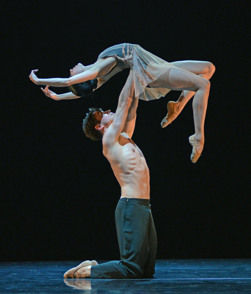Hannah Sofo and Seamus Wilkinson in Marcelino Sambe's Land of Nod.© Dave Morgan. (Click image for larger version)