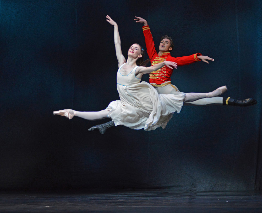 Anna Rose O'Sullivan and James Hay in The Nutcracker.© Dave Morgan, courtesy the Royal Opera House. (Click image for larger version)