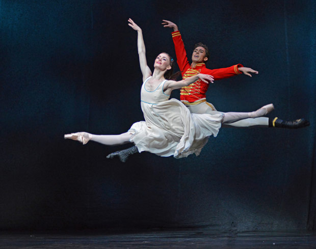 Anna Rose O'Sullivan and James Hay in <I>The Nutcracker</I>.<br />© Dave Morgan, courtesy the Royal Opera House. (Click image for larger version)