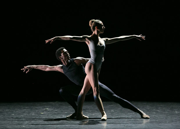 Isabella Boylston and Calvin Royal III in Wheeldon's <I>This Bitter Earth</I>.<br />© Erin Baiano. (Click image for larger version)