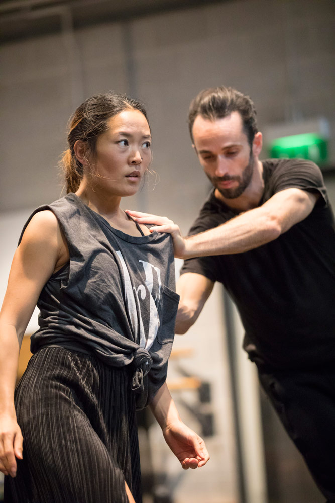 Sebastien Ramirez and Honji Wang in rehearsal for the Nitin Sawhney RAH concert.© Johan Persson. (Click image for larger version)