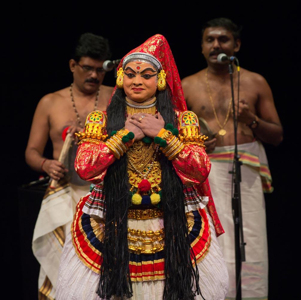 Kerala Kalamandalam in Dussasana Vadhom.© Kevin Yatarola. (Click image for larger version)