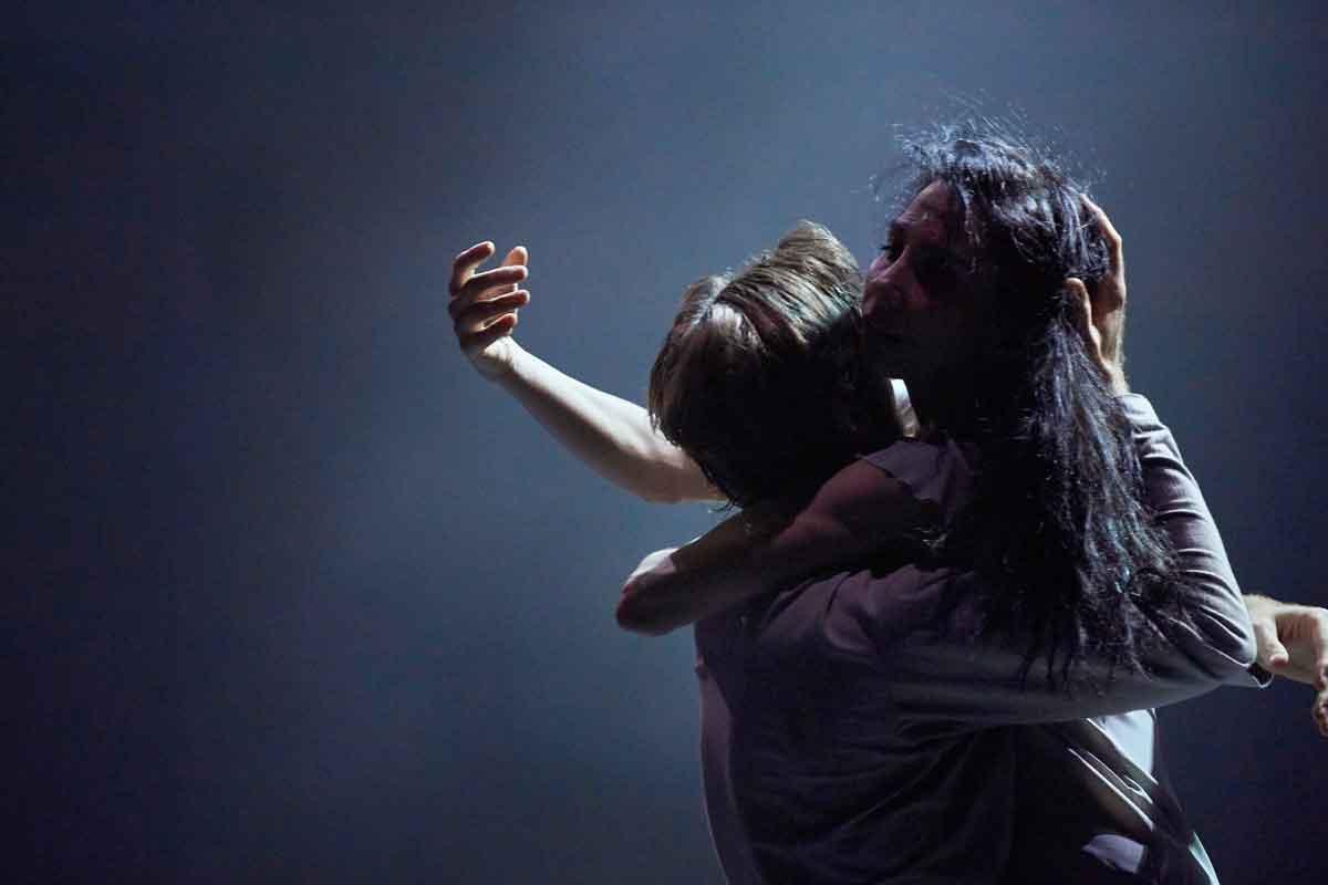 Tamara Rojo and James Streeter in Akram Khan's Giselle.© Laurent Liotardo. (Click image for larger version)