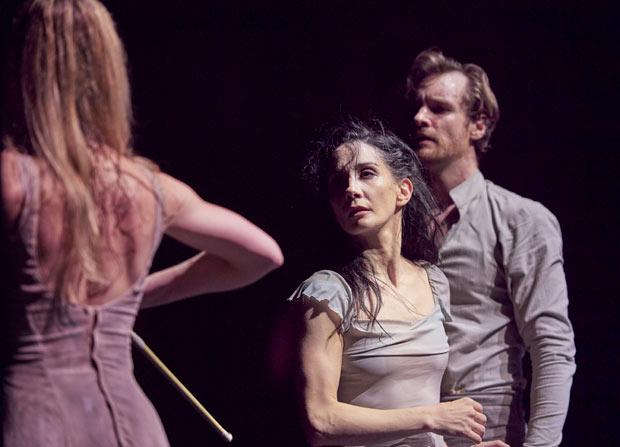 Tamara Rojo and James Streeter in Akram Khan's <I>Giselle</I>.<br />© Laurent Liotardo. (Click image for larger version)