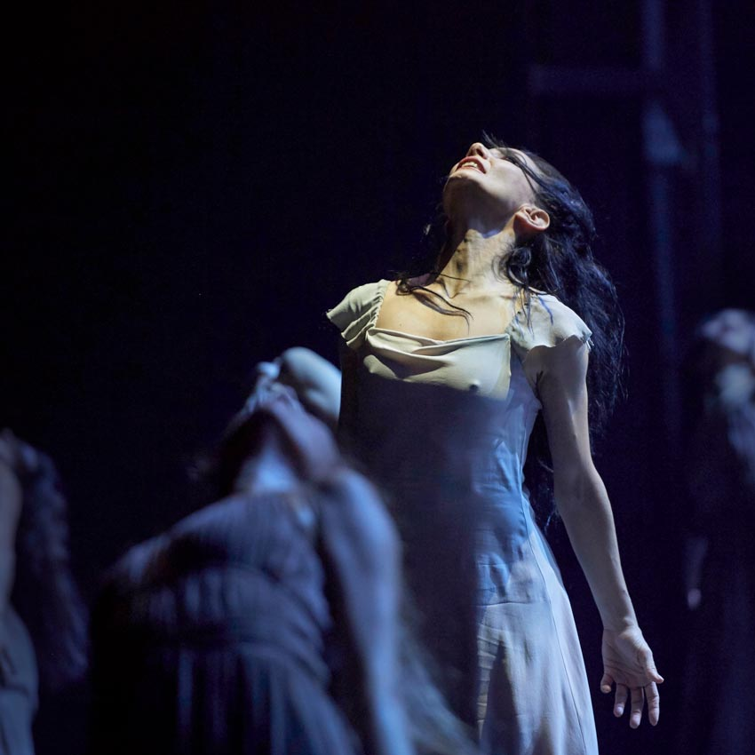 Tamara Rojo in Akram Khan's Giselle.© Laurent Liotardo. (Click image for larger version)