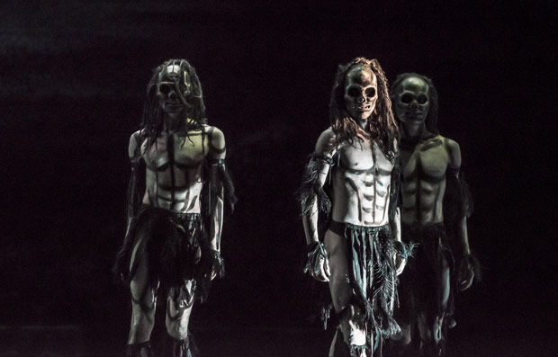 Daniel Davidson, Juan Gil and Liam Francis in <I>Ghost Dances</I>.<br />© Stephen Wright. (Click image for larger version)