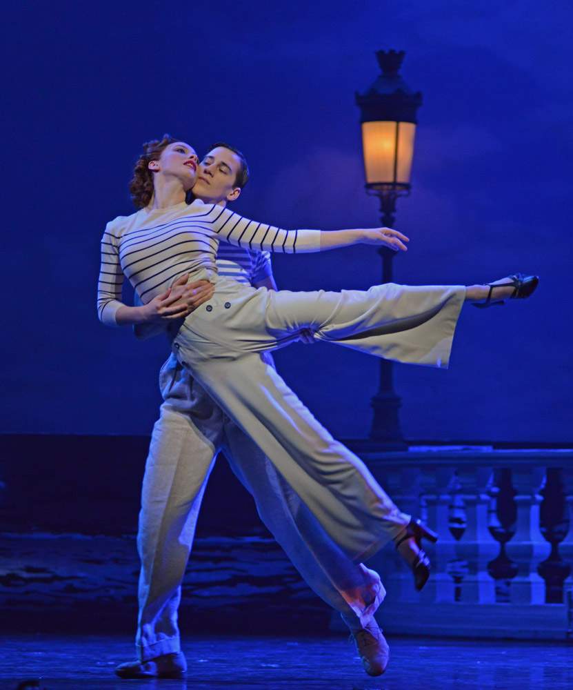 Cordelia Braithwaite and Dominic North in <I>The Red Shoes</I>.<br />© Dave Morgan. (Click image for larger version)