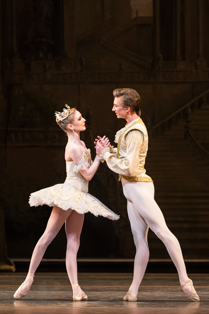Sarah Lamb and Vadim Muntagirov in <I>The Sleeping Beauty</I>.<br />© Foteini Christofilopoulou, courtesy the Royal Opera House. (Click image for larger version)