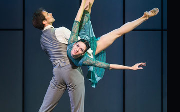 Oleg Gabyshev and Lyubov Andreyeva in Up & Down.© Foteini Christofilopoulou. (Click image for larger version)