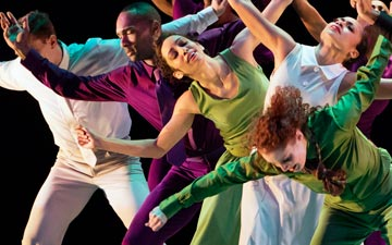 Alvin Ailey American Dance Theater in Hope Boykin's r-Evolution, Dream.© Paul Kolnik. (Click image for larger version)