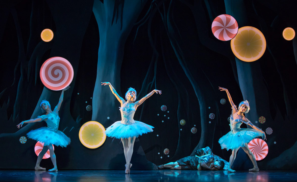 Dew Drop fairies in <I>Hansel and Gretel</I>.<br />© Andy Ross. (Click image for larger version)