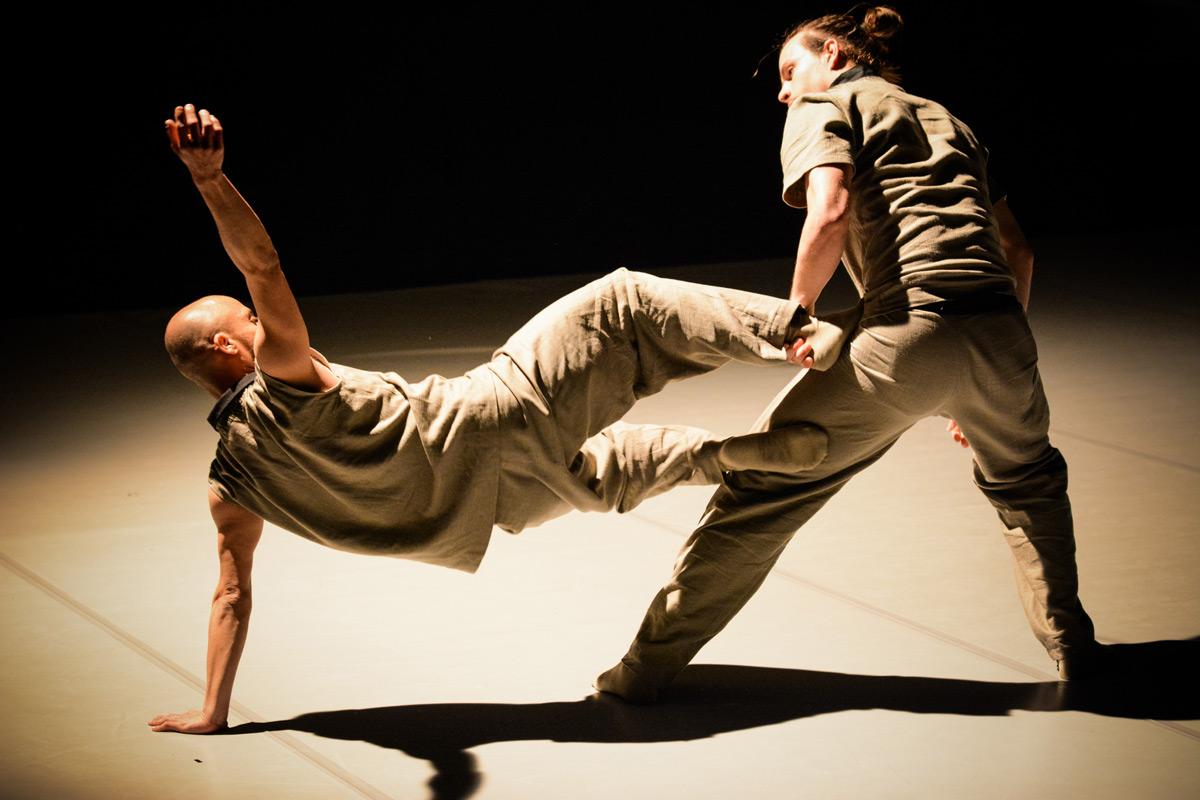 ŻfinMalta Dance Ensemble in <I>Kick the Bucket</I> by Ivan Perez.<br />© Emma Tranter. (Click image for larger version)