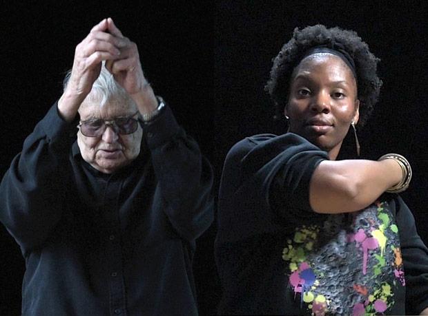 Robert Cohan and Vicki Igbokwe - part of <I>52 Portraits</I>.<br />© Hugo Glendinning. (Click image for larger version)