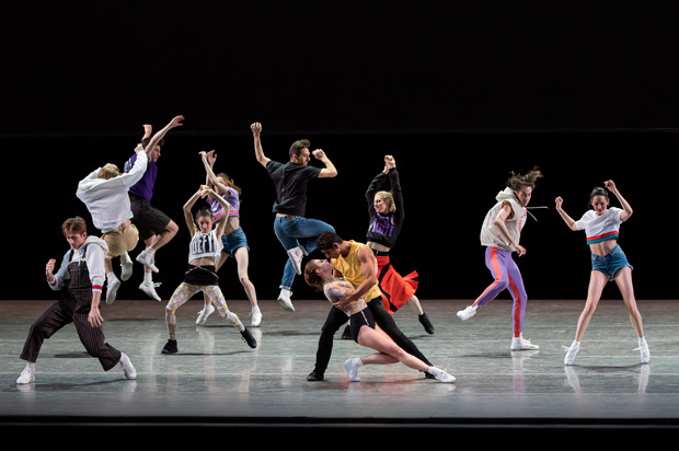 New York City Ballet in Justin Peck's <I>The Times are Racing</I>.<br />© Paul Kolnik. (Click image for larger version)