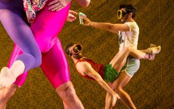 Lindsey Matheis and Joseph Kudra with Guzmán Rosado and Joseph Davis in Death Defying Dances by Arthur Pita.© Yi-Chun Wu. (Click image for larger version)