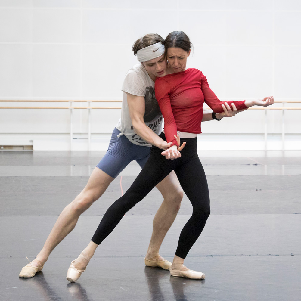 Mara Galeazzi and Matthew Ball in rehearsal for Woolf Works.© Andrej Uspenski. (Click image for larger version)