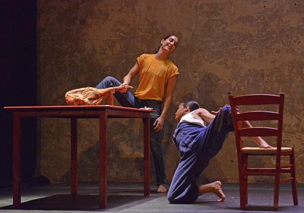 Marivi Da Silva and Antonette Dayrit in Carlos Pons Guerra's <I>Young Man!</I>.<br />© Dave Morgan. (Click image for larger version)